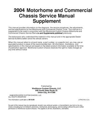 2005 Workhorse W22 - Manuals & Diagrams - RV Wiki